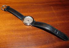 vintage MONTRE M-Watch M7607.400 MONDAINE uhr SWISS MADE suisse LEATHER cuir