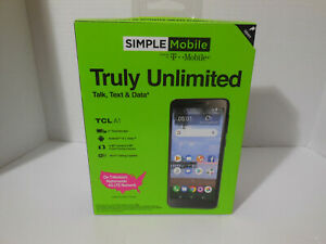 Simple Mobile Prepaid TCL A1 16GB Black Android 8.1 Oreo TCL A501DL Cell Phone