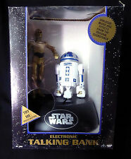 Star Wars Deluxe Electronic C3PO & R2D2 Thinkway Talking Bank New from 1995