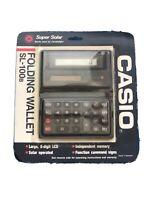 NIB, Vintage Casio SL-100B Solar Electronic Calculator