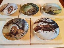 Big Cats of the World Plate Collection by Doug Manning lot of 5 plates
