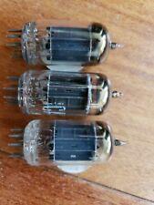 3 RCA 12AU7A/ECC82 Long Black Plate 2 test new