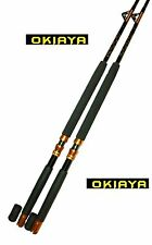 "Okiaya Composit 160-200Lb ""The Big Nasty"" Saltwater Big Game Roller Rod Set Of 2"