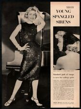 1957 Fashion - Sequin Dress & Bandana - Sexy Models 2 Page VINTAGE ARTICLE