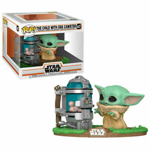 STAR WARS THE MANDALORIAN CHILD WITH EGG CANISTER POP VINYL FIGURE FUNKO 407