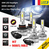 H7&9005/HB3 110W 26000LM LED Ampoule Voiture Feux Lampe Kit Phare 6000K 2 Paires