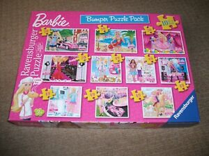 RAVENSBURGER JIGSAWS - Barbie Bumper Pack 10 in a box - EXCELLENT CONDITION