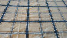 SET 2 Short TAB TOP Curtain Drape Panel PLAID BLUE Louis hornick NAUTICAL 34696