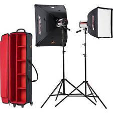 Photoflex SKSF1502MXTB StarFlash 300w/s Soft Box Kit studio flash kit 2 Heads