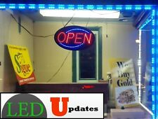 20FT BLUE STOREFRONT LED LIGHT 5050 MODULE WITH 12V 2A UL Listed POWER