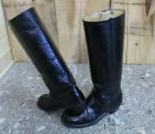 Women's DOUBLE H Black Leather Boots- Size 7.5B