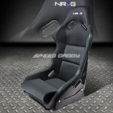 1X NRG FRP-300 UNIVERSAL FIBER GLASS BUCKET RACING SEAT+FOAM LUMBAR CUSHIONS