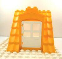 Lego Duplo Item Roof w/ Dormer w/ door yellow/white