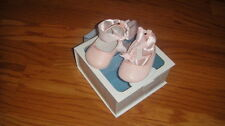 RALPH LAUREN 0 PINK LAMBSKIN LEATHER SHOES BABY INFANT