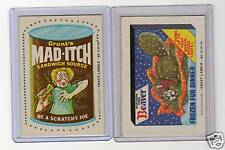 1979 Rare Fleer Crazy Labels Wacky Packages Mad-Itch Beaver #6 NM
