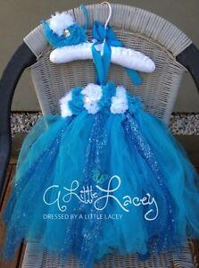 *NEW* Girls Glitter Tutu Party Princess Dress Pearls & Matching Headband