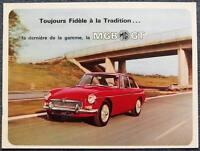 MG MGB GT SPORTS CAR Sales Brochure 1965 #6593 FRENCH TEXT