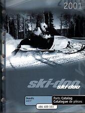 2001 SKI-DOO SNOWMOBILE SKANDIC 440 F PARTS MANUAL NEW P/N 484 400 153  (199)