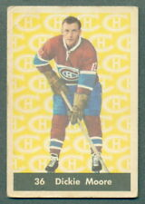 1961 62 PARKHURST HOCKEY #36 DICKIE MOORE VG-EX MONTREALCANADIENS CARD