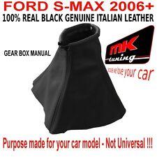 FORD S MAX 2006 + GEAR SHIFT POLAINA GAITOR FUNDA CUERO NEGRO PUNTADA