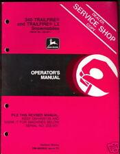JOHN DEERE OPERATOR`S MANUAL 340 TRAILFIRE & TRAILFIRE LX SNOWMOBILE