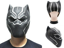 Black Panther Mask Marvel Superhero Cosplay Latex Party Mask Halloween