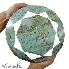 "Large 6.96 Kilo Natural Ruby Fuchsite Round Earth Mined Huge Gemstone~10x2.5"""