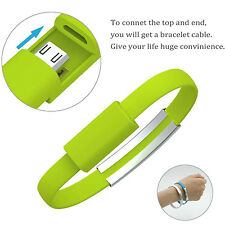 Mini Short Flat Bracelet Micro USB 2.0 Sync Data Charger Cable for Android Phone