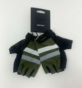 RAPHA Brevet Mitts Gloves Size Large Green New