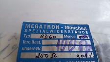 10 pcs  precision  Resistors  Megatron   250 ohM   0.01%  1/2W   type RD60 c50