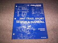 2005 Polaris Snowmobile Trail Sport Shop Repair Service Manual W/ CD 9919300