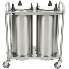 Apw Wyott Htl2-10 Mobile Heated Dish Dispenser with Open Frame Design