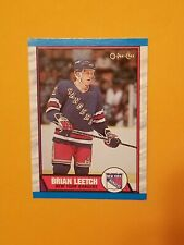1989-90 O Pee Chee Hockey #136 Brian Leetch Rookie Card
