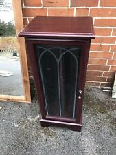 Wooden CD Rack Cabinet Well Made Lovely Good Condition Heavy Brown