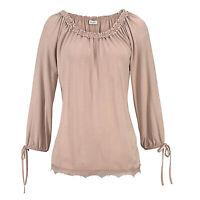 sehr hübsches Shirt Carmen Gr.36/38 luftig Bluse TOP Tunika Rose Edel Oberteil