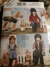 """Vogue 18"""" Doll Clothes & Accessories Sewing Pattern 7729 Equestrian, Cowgirl"""