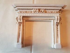 Dolls house artisan Sue Cook ornate Georgian fire surround