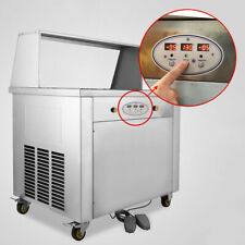 110V Fried Ice Cream Roll Machine Commercial Fried Ice Cream Maker for Yogurt