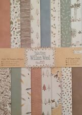 Papermania Tales From Willson Wood A4 Paper Pack 32 Sheets 160gsm For Cardmaking