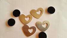 Tischtuchbeschwerer mit Magnet 4er-Pack als Herz Tischdecke *