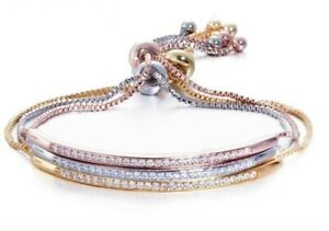 Adjustable Crystal Bracelet - New in Gift Box - Three Colours