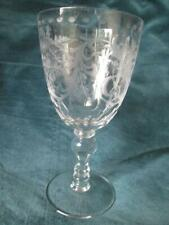 More details for antique venetian crystal large etchet wine goblet glass museum quality 18cm tall
