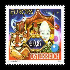 "Austria 2002 - Europa Stamp ""Circus"" Art Clown - Sc 1891 Mnh"