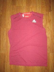 Mens ADIDAS CLIMACHILL athletic sleeveless tank top shirt sz L Lg running tennis