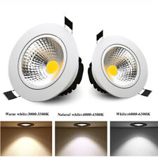 Dimmable Recessed Led Ceiling Downlight COB Spotlight Lamp 12/15/20W 110V 220V