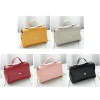 Women Shoulder Bag PU Leather Handbag Candy Color Crossbody Satchel Purse Clutch