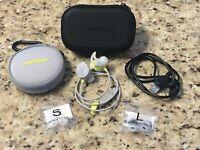Bose SoundSport Wireless In Ear Buds Headphones Mic BUNDLE NFC Citron FREE SHIP