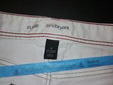 NEW Lane Bryant Flare Jeans Size 24 White 42 X 22 Stretch Denim Womens Plus