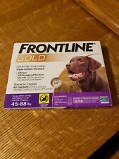 Frontline Gold for Dogs 45-88 pounds. Flea and Tick prevention. 3 doses ��🦺�
