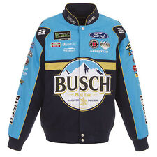 Nascar Busch Kevin Harvick Cotton Black Jacket JH Design  New